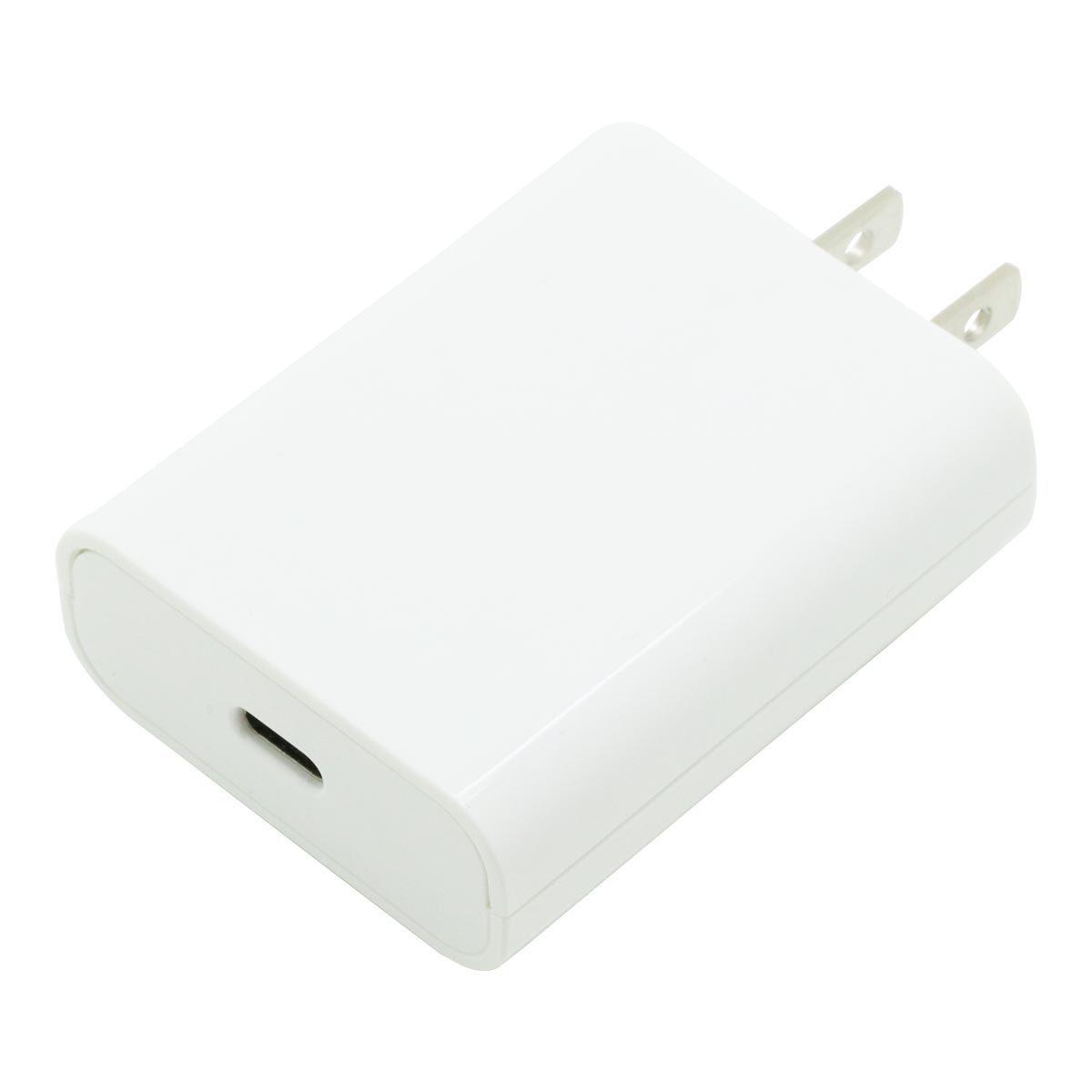 エコパッケージ版PD対応Type-Cポート平型AC充電器20W